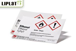 etiquetas de productos químicos